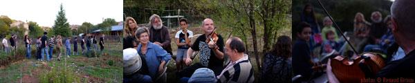 Jean-François Vrod - Rencontre musicale dans les Jardins partagés de Correns