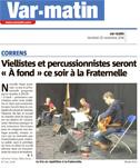 Var Matin - Viellistes et percussionnistes seront «A fond» ce soir à la Fraternelle