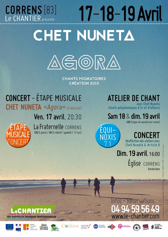 Affiche Chet Nuneta : concert & atelier de chant