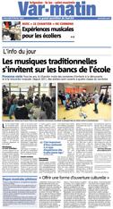 Var Matin - Les musiques traditionnelles s'invitent sur les bancs de l'école