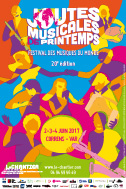 Poster - 20th Joutes musicales de printemps - World music festival - June, 2-3-4, 2017
